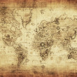 Stock Photo: Ancient map of world