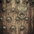Stock Photo: Close-up of old doors Cartagena, Colombia