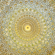 Dome of the mosque, oriental ornaments from Isfahan, Iran — Stock Photo
