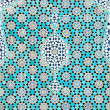 Tiled background, oriental ornaments from Isfahan Mosque, Iran — 图库照片