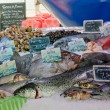 Stock Photo: Fresh fish at a fish market in Bordeaux, France