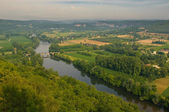 Valley of Dordogne river, France — Stock Photo