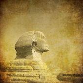 Nieczysty obraz sfinks i piramidy — Zdjęcie stockowe