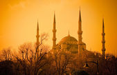 Blue Mosque at sunset, Istanbul — Stockfoto
