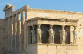 Caryatids, acropolis, athens — Stock Photo
