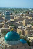 Panorama de una ciudad antigua de khiva, uzbekistán — Foto de Stock