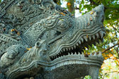 Sculpture of naga – mythical creature in eastern mythology — Stock Photo