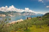 Panorama of Sirmione village and Lake Garda, Italy — Stockfoto