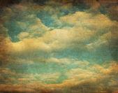 Retro obraz pochmurne niebo — Zdjęcie stockowe