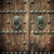Close-up of old doors Cartagena, Colombia — Stock Photo