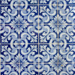 Portuguese  azulejos, old tiled background - Stock Photo