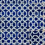 Tiled background, oriental ornaments from Uzbekistan Tiled backg — Stock Photo #9530852
