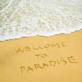 Welcome to paradise — Stock Photo