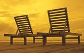 Playa sillas — Foto de Stock