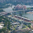Singapore Flyer, world biggest ferris wheel — Stock Photo
