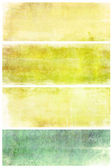 Set of grunge backgrounds with space for text or image — Stock Photo