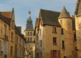 Streets of Sarlat, French medieval town — Stock Photo