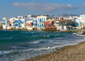 Little Venice, Mykonos Island, Greece — Stock Photo