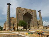 Minarets of Registan, Samarkand, Uzbekistan — Stock Photo