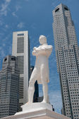 Sir Raffles statue, Singapore — Stock Photo