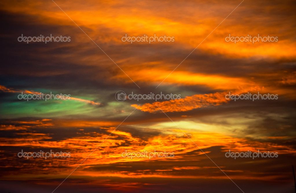 Multicolored sunset sky — Stock Photo #9572396