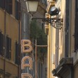 Bar sign in the old street of Rome — Stock Photo