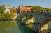 Ponte Sisto bridge, Rome, Italy — Stock Photo