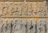イランのペルセポリスの古代のレリーフ — ストック写真