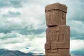 Monolith at Ruins of Tiwanaku, Bolivia — Stock Photo