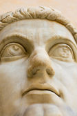Head of ancient statue — Stock Photo