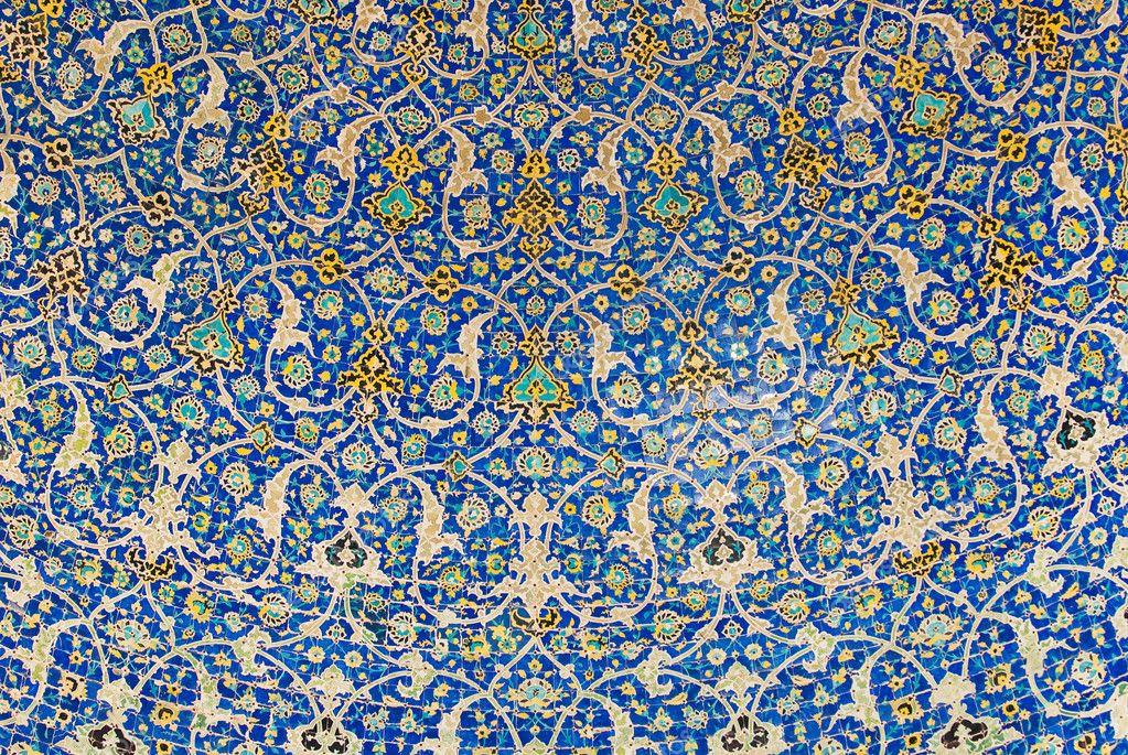 kuppel der moschee orientalische ornamente aus isfahan. Black Bedroom Furniture Sets. Home Design Ideas