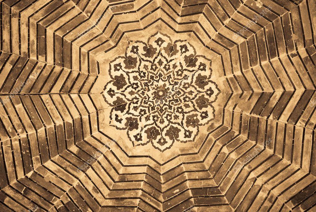kuppel der moschee orientalische ornamente aus buchara usbekistan stockfoto 9580668. Black Bedroom Furniture Sets. Home Design Ideas