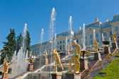 Fountains of Petergof, Saint Petersburg, Russia — Stock Photo