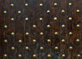 Wirydarz-do góry obraz starożytnych drzwi — Zdjęcie stockowe