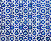 Tiled background, oriental ornaments from Uzbekistan Tiled backg — Stock Photo