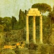 Vintage image of roman ruins, rome, italy — Stock Photo
