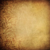 Grunge wallpaper with floral pattern — Stock Photo