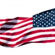 Stock Photo: Americflag over white background