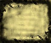Grunge foliage frame — 图库照片