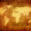 Grunge map of the world — Stock Photo