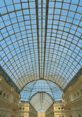 Glass dome of Gum shopping center, Moscow, Russia — Stock fotografie