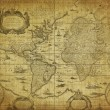 Vintage map of the world 1635 — Stock Photo #9694885