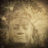 Szef bramą stróża, angkor, kambodża — Zdjęcie stockowe