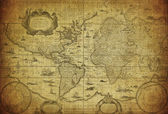 Vintage map of the world 1635 — 图库照片