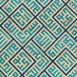 Tiled background, oriental ornaments from Uzbekistan Tiled backg - Stock Photo