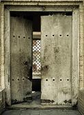 Close-up image of ancient doors — Stock Photo