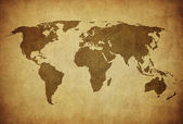 Vintage map of the world — Stok fotoğraf
