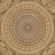 Dome of the mosque, oriental ornaments from Samarkand — Stock Photo #9980526