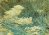Retro image of cloudy sky — Stockfoto