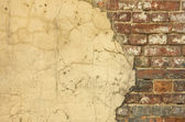 Old house wall - nice background with space for text — Stock Photo